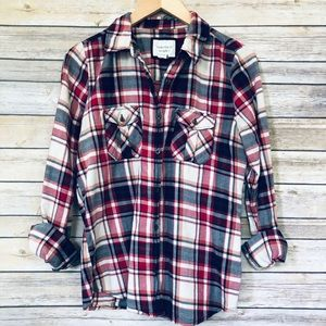 Forever 21 Red & Blue Plaid Button Down